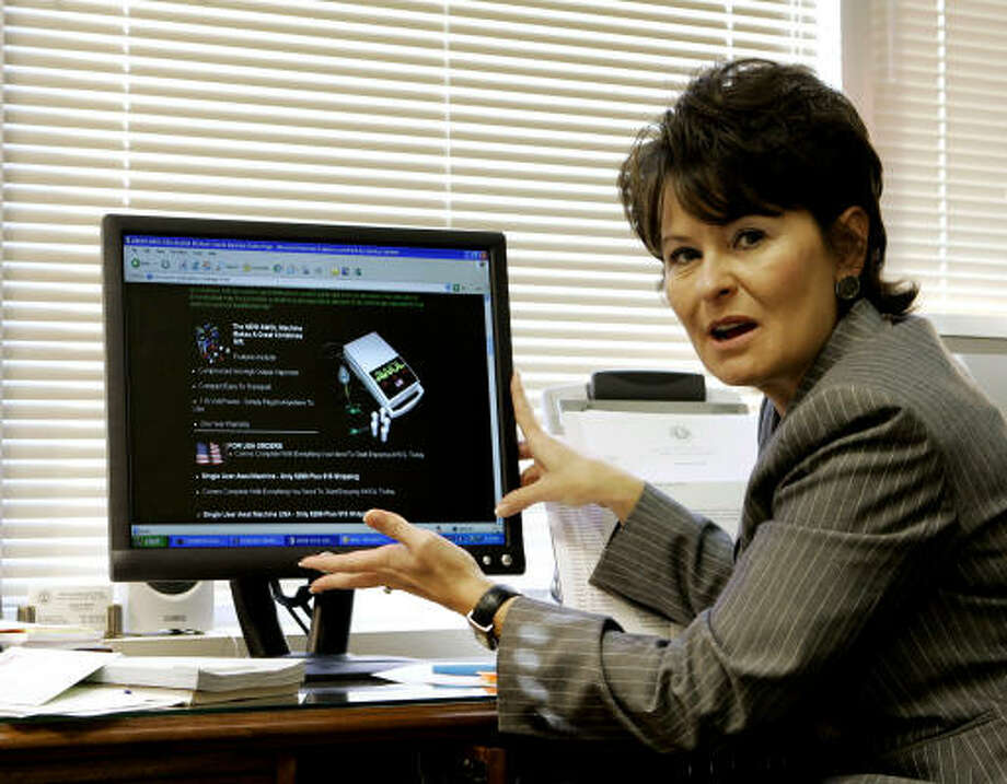 Teresa Barton, head of the Kentucky Office of Drug Control Policy, is pushing a ban in her state. Photo: ED REINKE, AP