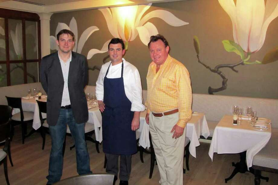 (From left) Manager James Morrison, Chef Frederic Kieffer and owner Charles Mallory at Artisan Restaurant, located in the Delamar Southport in Fairfield, Conn. Photo: Pat Gillespie