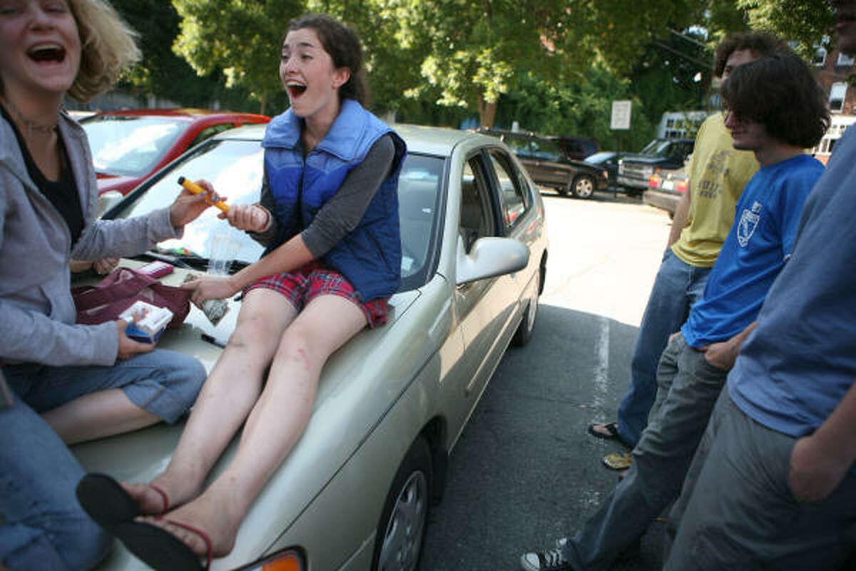 Townsfolk upset at teens legally disrobing in public
