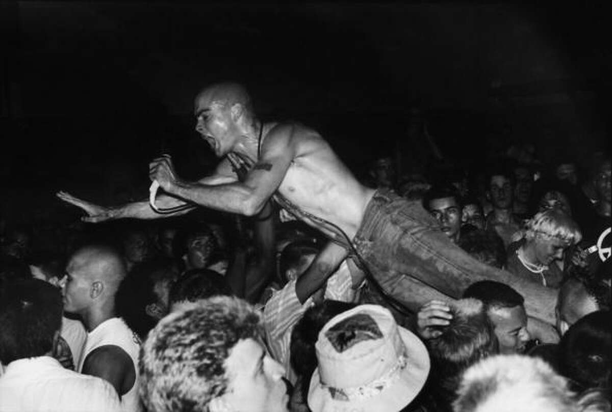 Henry Rollins of Black Flag was the poster boy of hardcore punk.