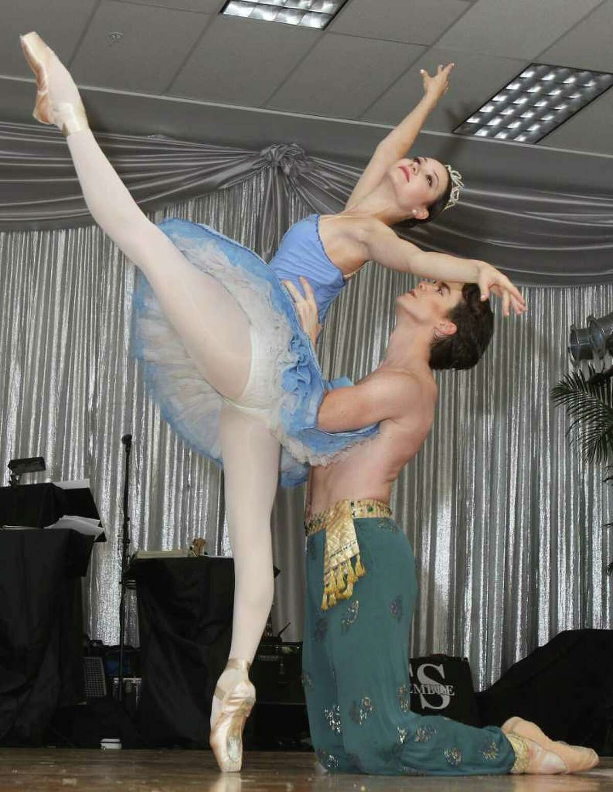 Saratoga Springs, NY - August 6, 2011 - (Photo by Joe Putrock/Special to the Times Union) - American Ballet Theatre dancers Christine Shevchenko(left) and Gray Davis(right) performed during the National Museum of Dance Silver Anniversary Gala.