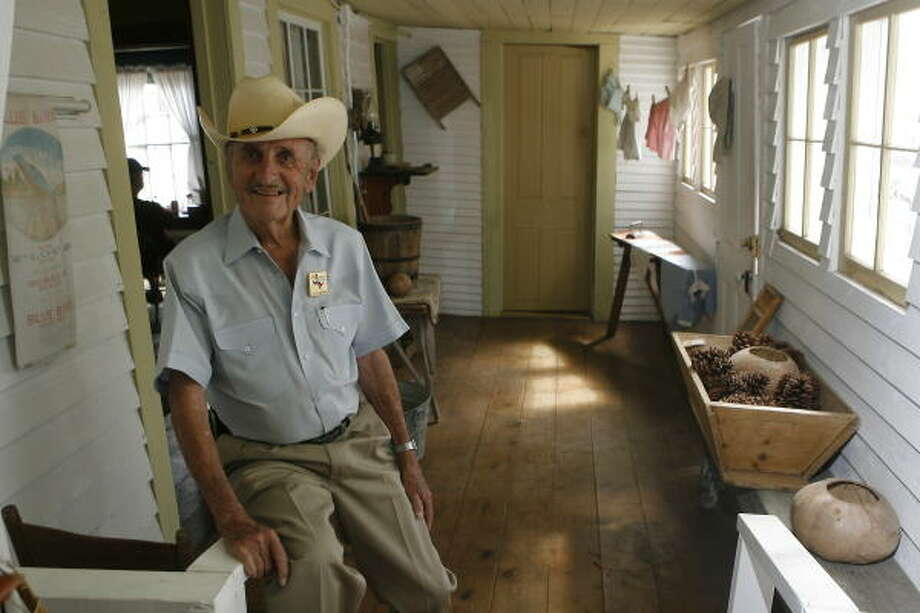 Ramon M. Laughter, chief executive officer of Montgomery's historic society, takes a break in the town's Nat Hart Davis Pioneer Complex and Museum. He says the society has saved seven homes from the wrecking ball. Photo: Steve Campbell, Houston Chronicle