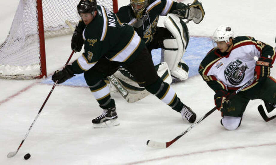 The Aeros are still looking for their first win of the season after getting swept by the Grand Rapids Griffins and Iowa Stars last weekend. Photo: Sharon Steinmann, Houston Chronicle
