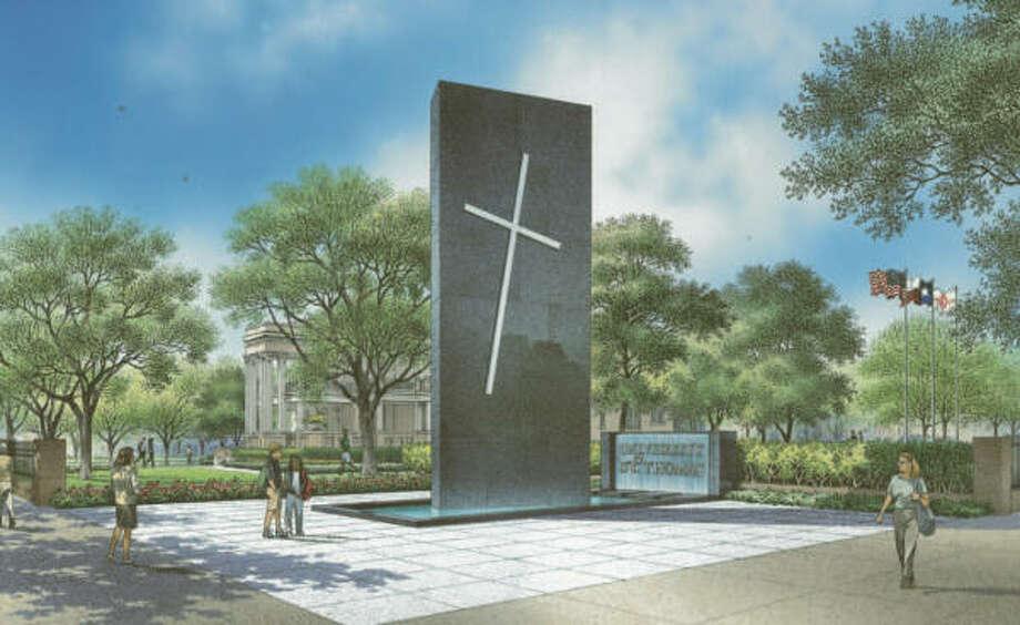 The Edward P. White Memorial Plaza will mark the Catholic university's edge at the intersection of Montrose and West Alabama. Photo: UNIVERSITY OF ST. THOMAS