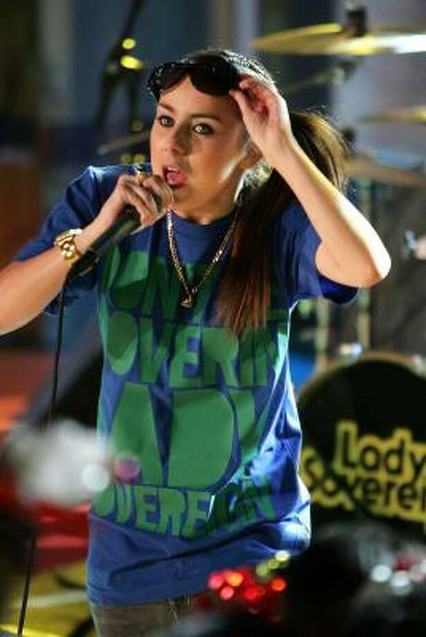 Lady Sovereign is still looking for her American audience, forced to play smaller venues on this side of the Atlantic. Photo: Scott Gries, Getty Images