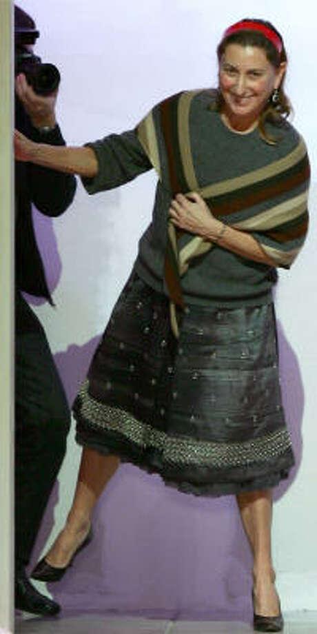 Italian designer Miuccia Prada was the subject of Lauren Weisberger's 2003 bestselling novel. Photo: REUTERS