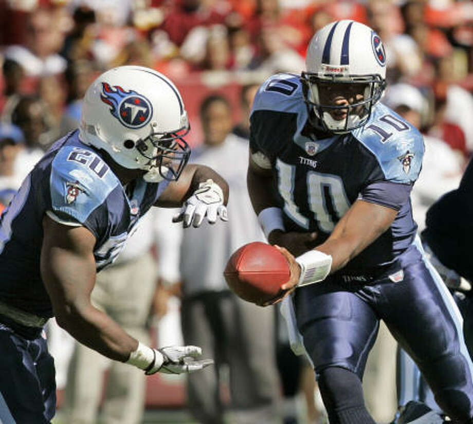 One expert believes Vince Young (10) could earn $6 million to $10 million a year if he succeeds in the NFL. Photo: GERALD HERBERT, AP