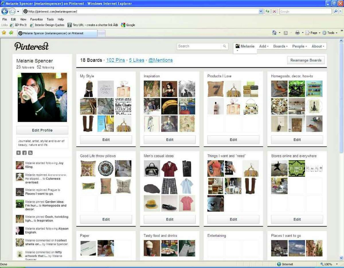 """Pinterest is an addictive social media site for creative types. Melanie Warner Spencer started using Pinterest in June and became """"addicted"""" the first time she used the site."""