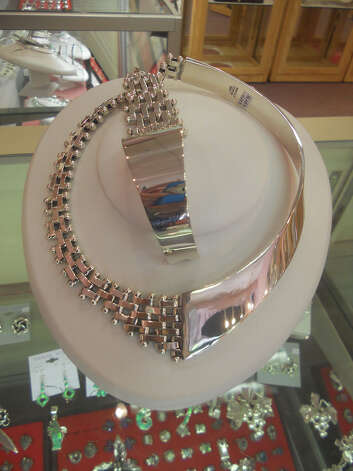 Mars Imports carries this hald-solid and half-petatillo necklace, $498.95, and bracelet, $289.95. JENNIFER RODRIGUEZ / SPECIAL TO THE EXPRESS-NEWS