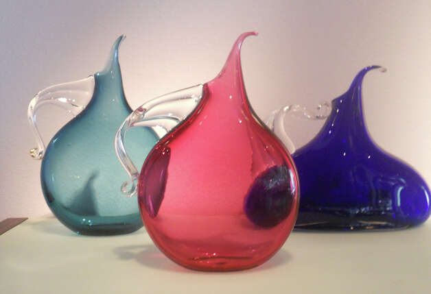 Mike McDougal created these sculptured pitchers, $200-250, which can be found at Gallery Vetro. JENNIFER RODRIGUEZ / SPECIAL TO THE EXPRESS-NEWS