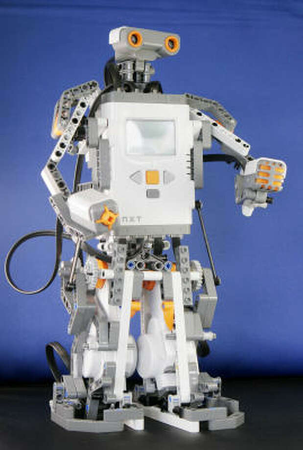 The $249 Mindstorm NXT by Lego was designed with suggestions by hackers. Photo: MARK LENNIHAN, AP