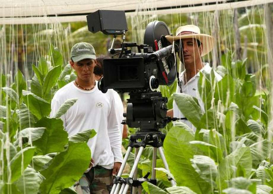 Andy Garcia looks through the camera while filming Lost City. Garcia, 50, directed, produced, scored and starred in the film. Photo: CineSon Entertainment