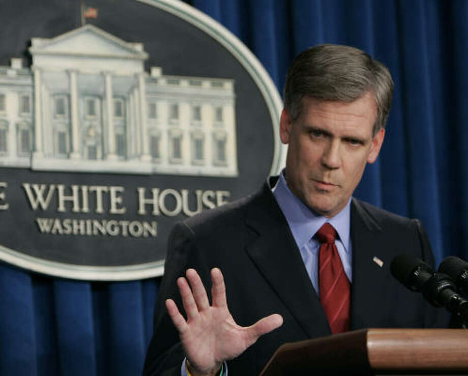 There has never been a White House press secretary quite like Tony Snow, a combative personality on television and radio. And no other press secretary has helped his or her party raise money. Photo: RON EDMONDS, AP
