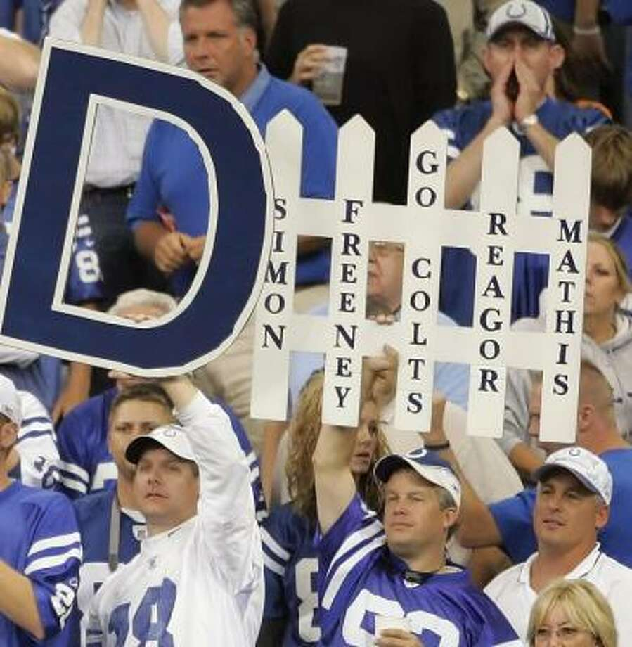 Fans make the RCA Dome inhospitable for the rest of the NFL. Photo: Andy Lyons, Getty Images