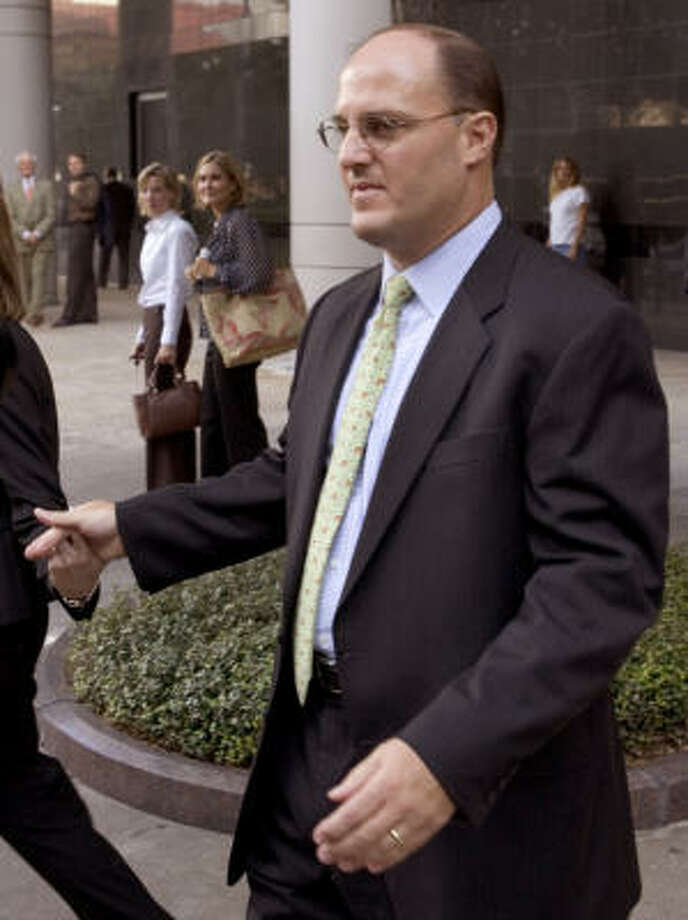 Timothy DeSpain, 41, could have faced up to five years in prison but prosecutors said he was very helpful in their efforts to build other Enron cases and seemed genuinely contrite. Photo: BRETT COOMER, CHRONICLE