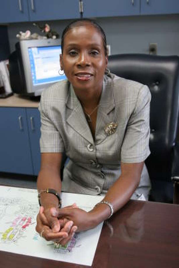 Educator Viretta West reached her goal of being a school principal this year. She is principal at Garcia Middle School. Photo: Suzanne Rehak, For The Chronicle