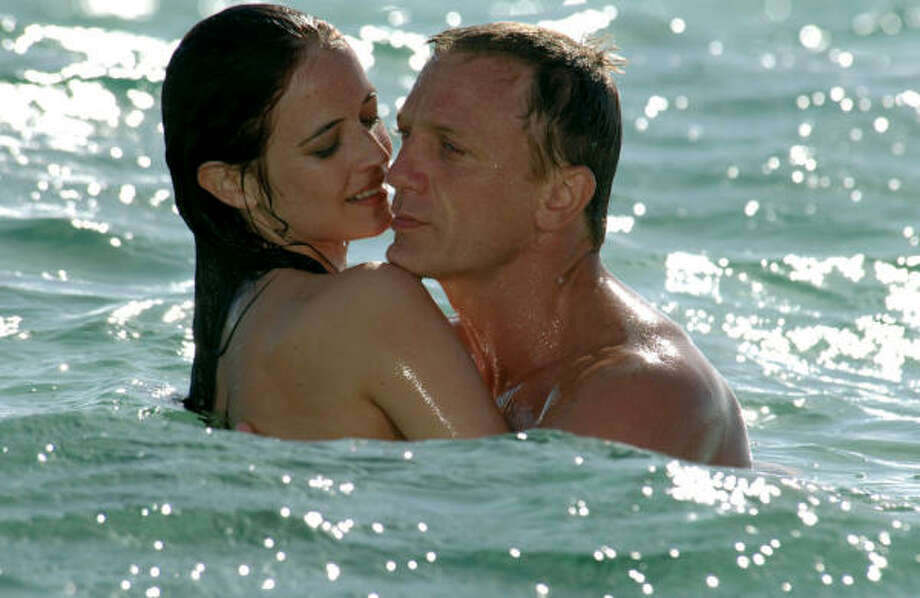 James Bond (Daniel Craig) falls hard for Vesper Lynd (Eva Green) during his first assignment, in Casino Royale. Photo: Columbia Tristar Films