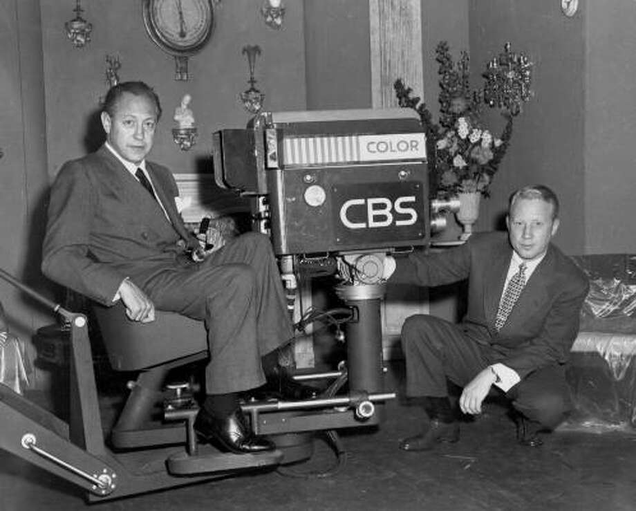Frank Stanton, right, shown in 1951 with CBS founder William S. Paley, helped build the network into a communications empire. Photo: CBS PHOTO ARCHIVE, AP