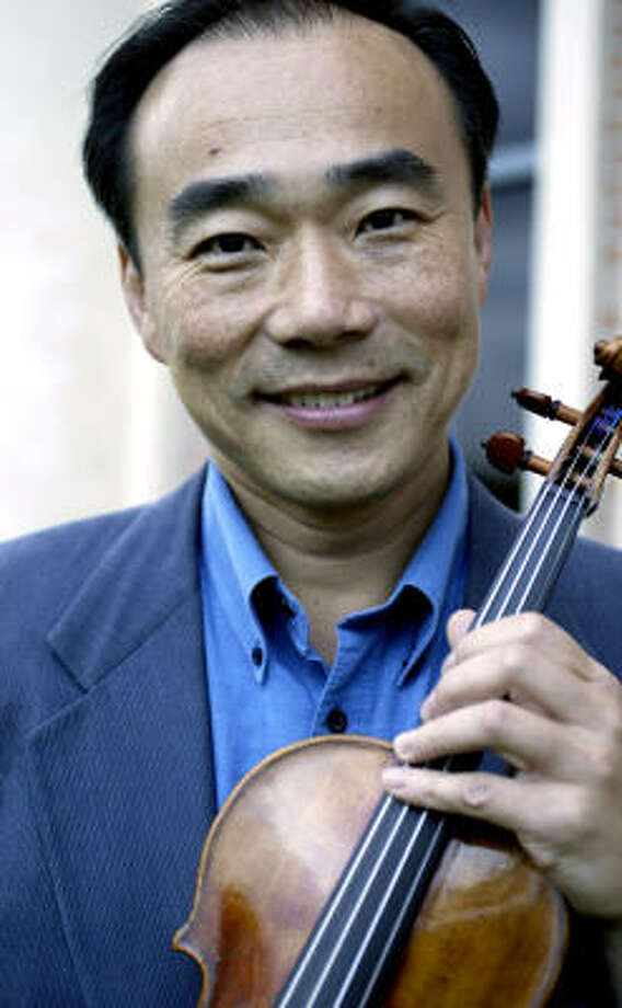 Violinist Cho-Liang Lin's nickname, Jimmy, encapsulates his good-natured, outgoing personality. Photo: Jessica Kourkounis, For The Chronicle