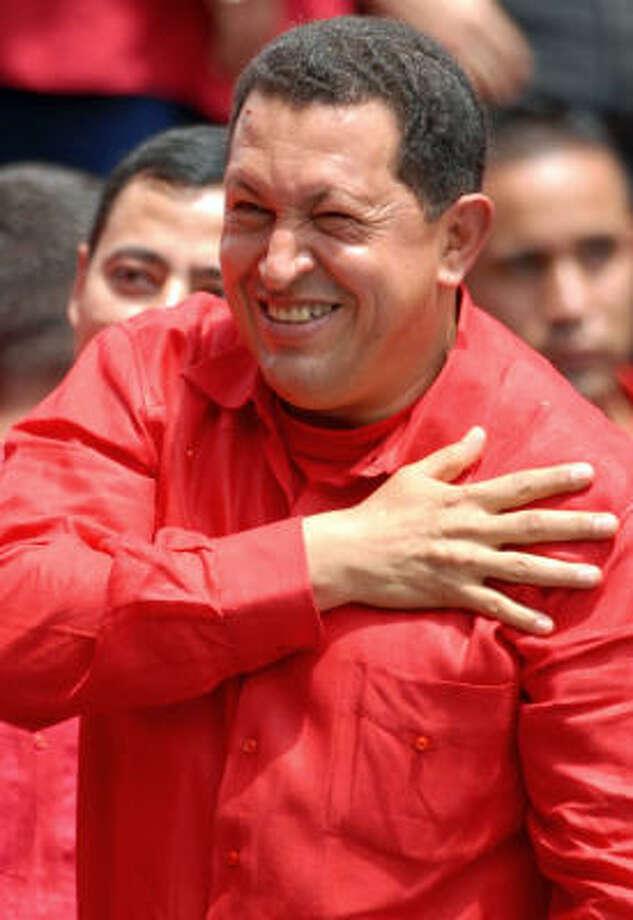 Hugo Chavez Photo: GREGORIO MARRERO, AP
