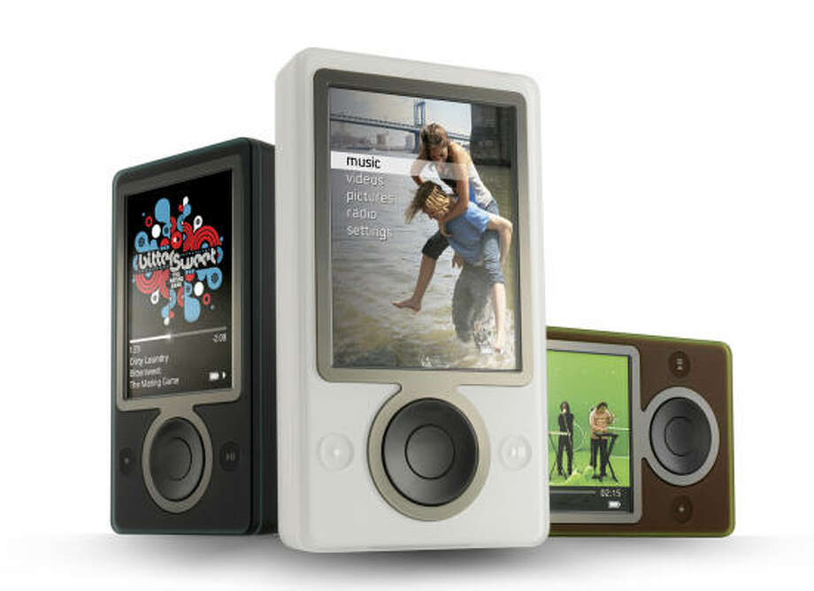 Microsoft's new Zune media player will have 30 gigabytes of memory, a 3-inch screen and a built-in FM tuner. Photo: DOUGLAS EVANS, AP/Courtesy Microsoft