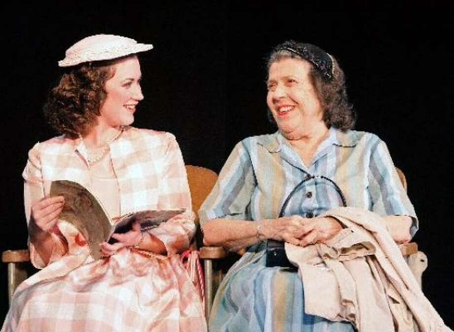 Chrissy Watkins brings piquant charm to the traveler who befriends Carrie (Jeannette Clift George) in the A.D. Players' production of Horton Foote's The Trip to Bountiful. Photo: Craig H. Hartley, For The Chronicle