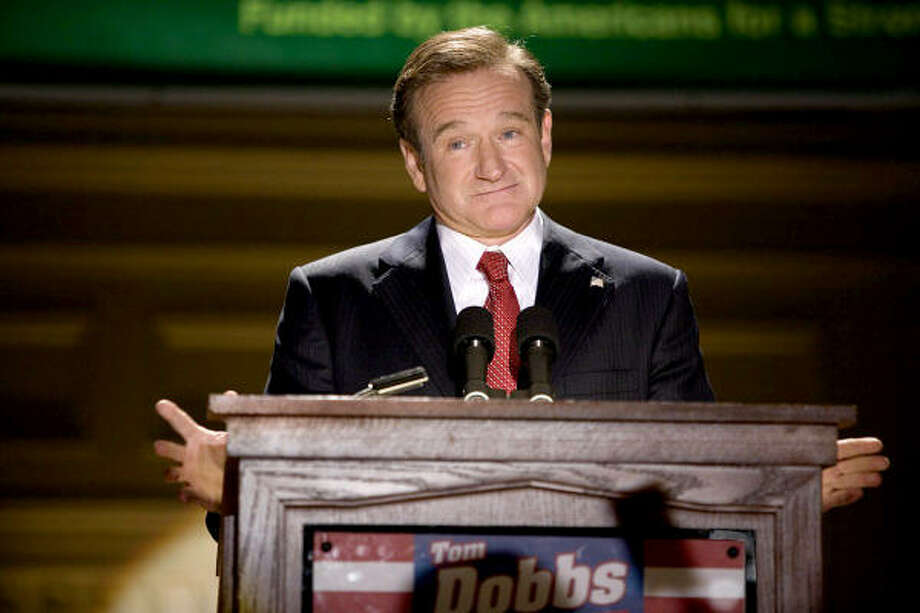 Robin Williams stars as comedian- turned- candidate Tom Dobbs in Man of the Year. Photo: Courtesy Photo