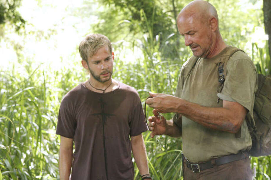 ABC will leave viewers dangling for more Lost until February. Dominic Monaghan, left, and Terry O'Quinn play Charlie and Locke in one of the few episodes to air this fall. Photo: MARIO PEREZ, ABC