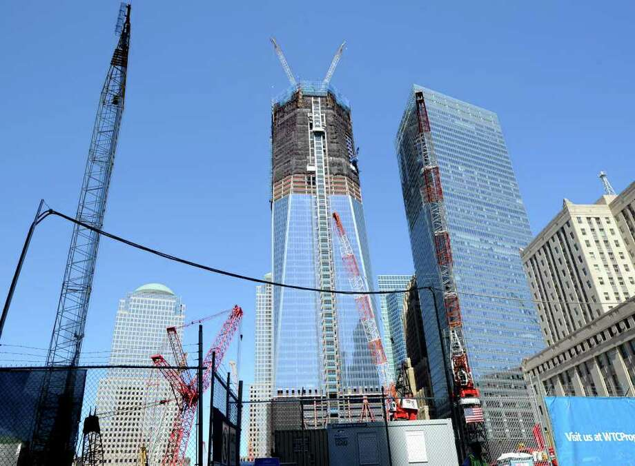 The Freedom Tower, also known as One World Trade Center, New York City, Thursday, Aug. 11, 2011, under construction a month before the 10th anniversary of 9/11. Photo: Bob Luckey / Greenwich Time