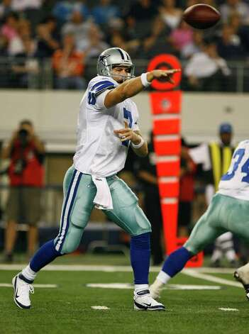 Dallas Cowboys quarterback Stephen McGee (7) throws a pass in the second half of their pre-season football game Thursday August 11, 2011 at the Cowboys Stadium in Arlington, Texas.  The Cowboys won 24-23.  SALLY FINNERAN/sfinneran@express-news.net Photo: SALLY FINNERAN, -- / © SAN ANTONIO EXPRESS-NEWS