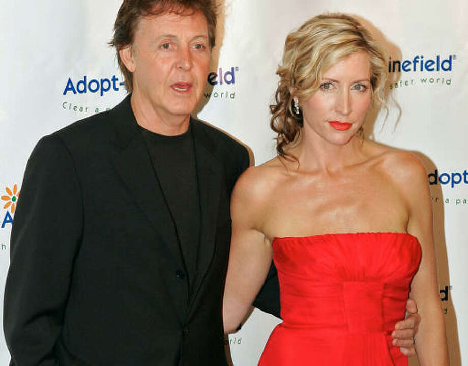 Heather Mills McCartney, the estranged wife of Paul McCartney, has accused him of physical abuse. McCartney's lawyers said that he will vigorously defend himself. Photo: MARK J. TERRILL, AP