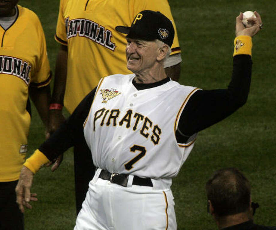 With Chuck Tanner, the All-Stars are partying like it's 1979. He threw out the first ball at PNC Park. Photo: KEITH SRAKOCIC, AP