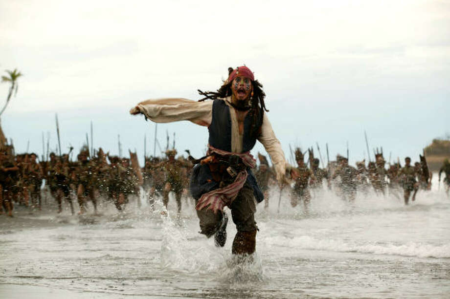 Johnny Depp gets his ARGH on again in Pirates of the Caribbean: Dead Man's Chest. Photo: Buena Vista Pictures