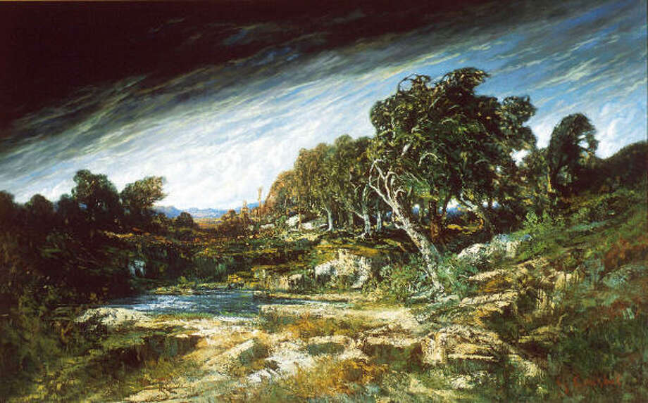 Gustave Courbet's 1854 mural-size painting The Gust of Wind. Photo: Museum Of Fine Arts, Houston