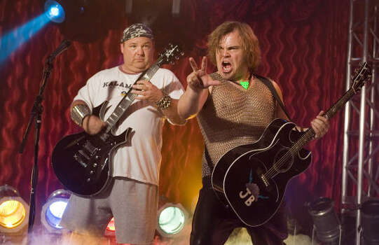 Kyle Gass, left, and Jack Black star in Tenacious D in: The Pick of Destiny. Photo: New Line Cinema