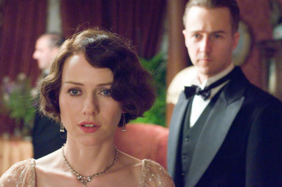 Kitty Fane (Naomi Watts) becomes dissatisfied with her marriage, as her husband  (Edward Norton) favors research over time with her, in The Painted Veil. Photo: Warner Independent Pictures