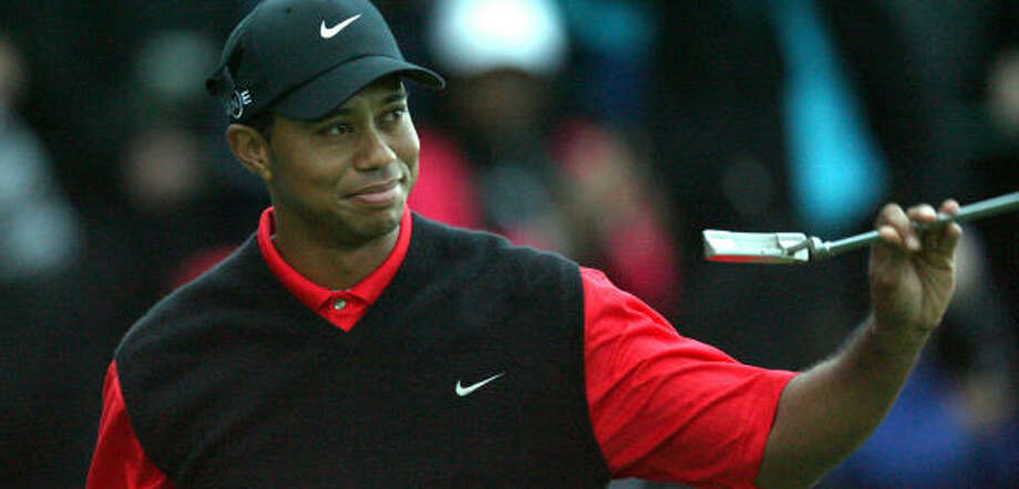 Tiger Woods knows bridging the gap between his current streak of six wins and Byron Nelson's record of 11 will be difficult. Photo: TOM HEVEZI, AP