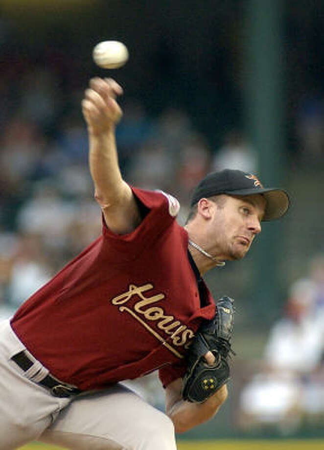 Roy Oswalt took the loss for the Astros allowing three runs on nine hits in going eight innings. Photo: LINDA KAYE, ASSOCIATED PRESS