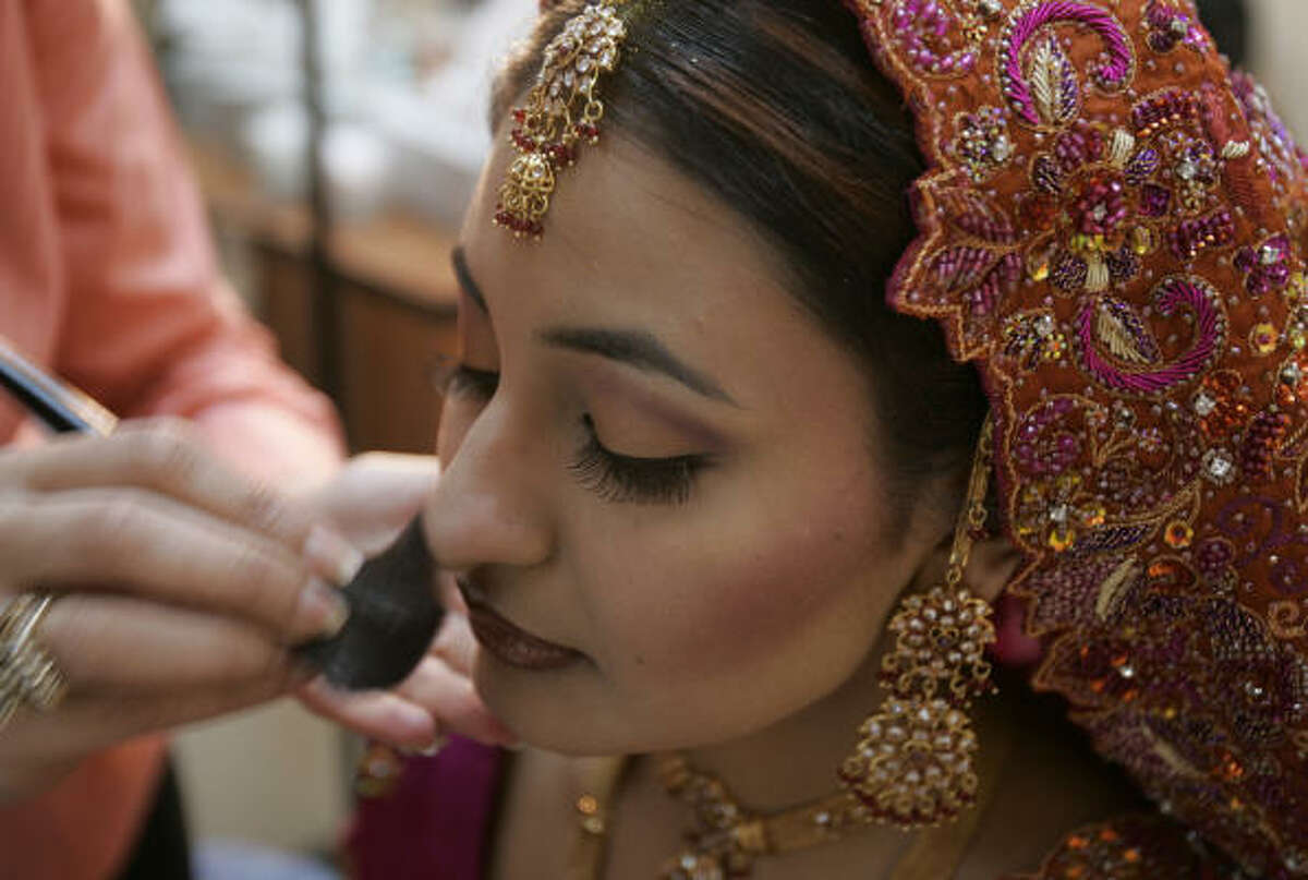 Mahvush Akhtar gets a trial run for her bridal makeup at Aisha's Beauty Clinic.