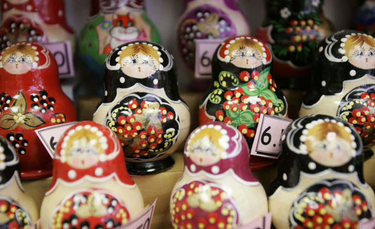 Nesting dolls are one find at the Russian General Store at Hillcroft and Braeswood.