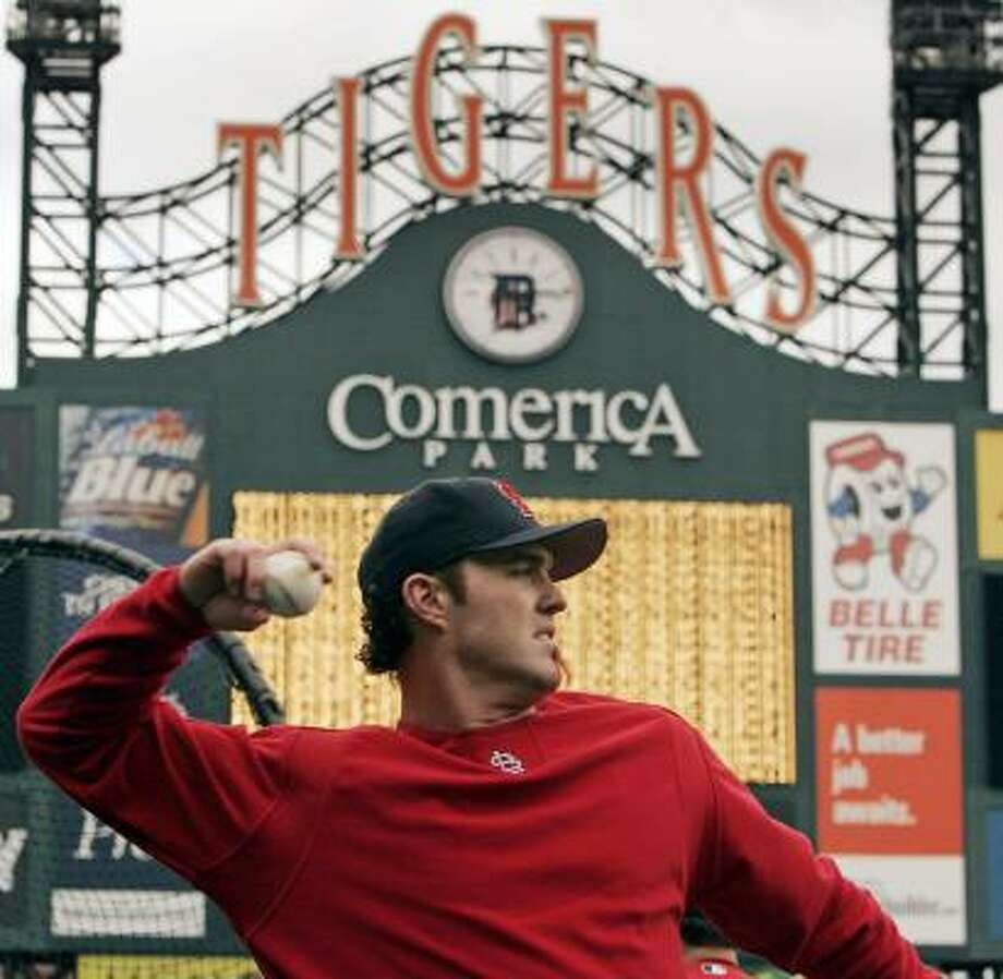 The World Series is back in the Motor City for the first time in 22 years, with Scott Spiezio and the Cardinals visiting the Tigers on Saturday for Game 1. Photo: BRIAN SNYDER, REUTERS