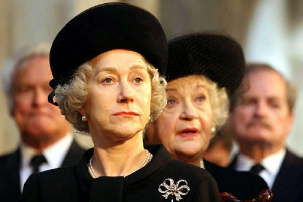 Helen Mirren portrays Queen Elizabeth II with dignity and a sense of duty in The Queen.