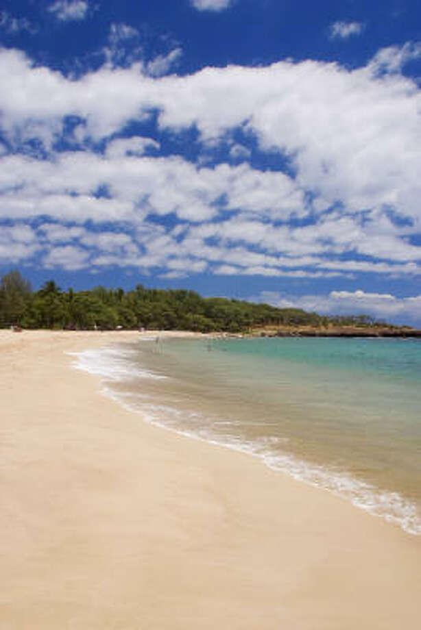 Lanai has stunning beaches such as Hulopoe, but no fast food, no malls and no night life. Photo: Lanai Visitors Bureau