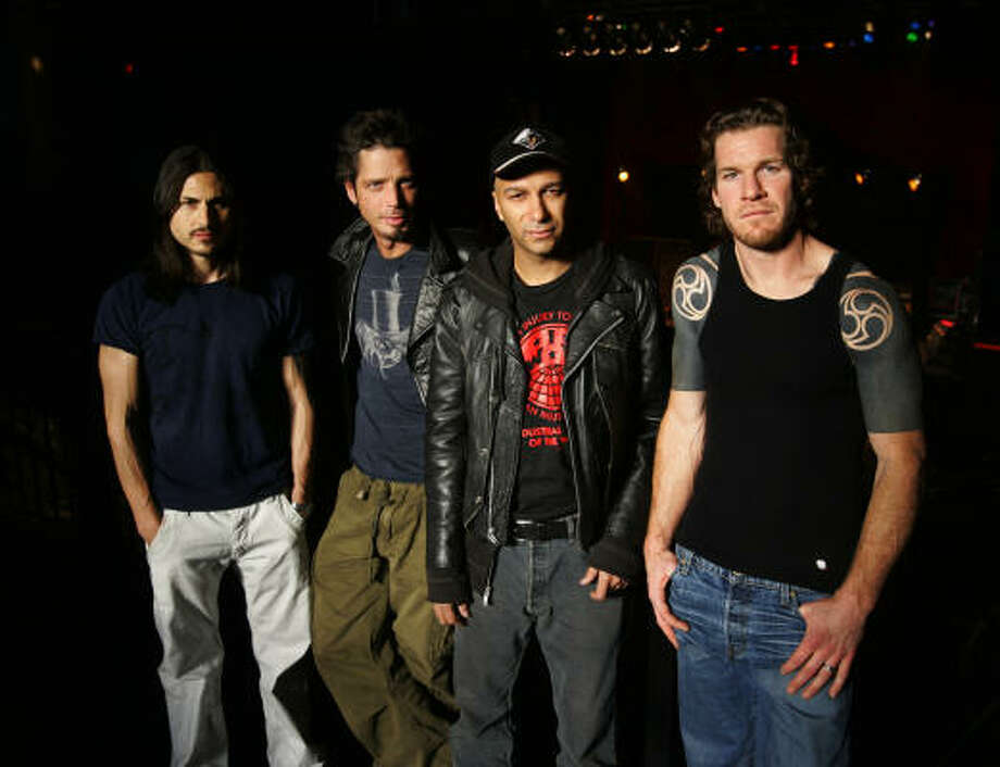 Brad Wilk, from left, Chris Cornell, Tom Morello and Tim Commerford just don't jibe as a band on Revelations. Photo: Associated Press