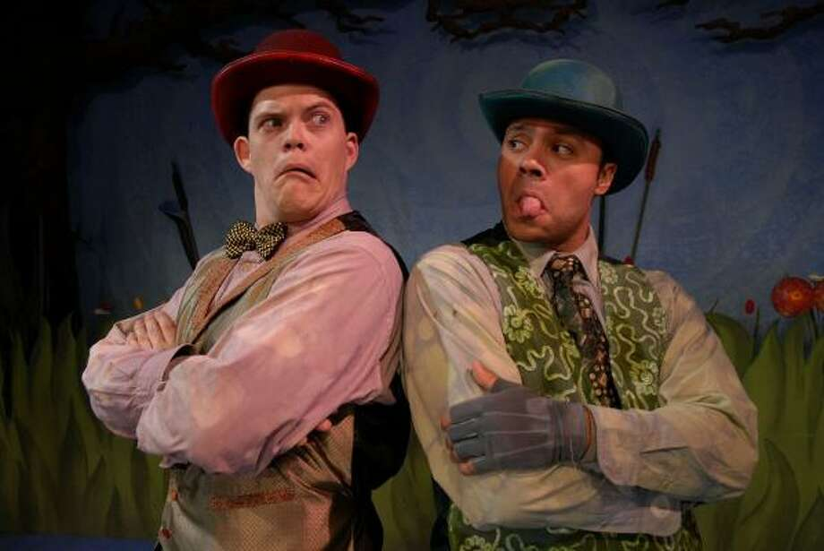 Kregg Alan Dailey, left, as Toad and Ilich Guardiola as Frog in Main Street Theater's presentation of A Year With Frog and Toad. Photo: Meenu Bhardwaj, For The Houston Chronicle