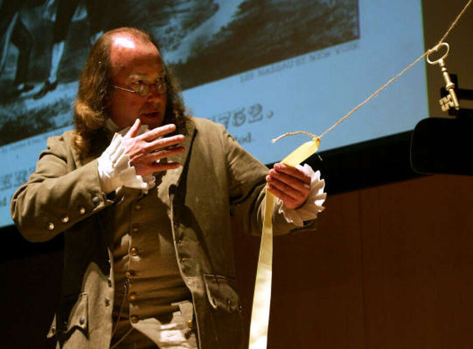 An actor portrays Benjamin Franklin during Philadelphia's celebration of the 300th anniversary of the patriot's birth. Like many of America's Founding Fathers, Franklin had close ties to England that weren't easily severed. Photo: JOSEPH KACZMAREK, Associated Press