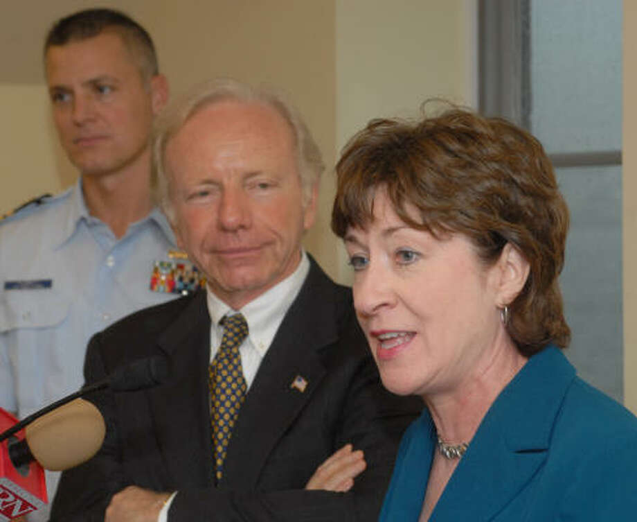 U.S. Sen. Joseph Lieberman, D-Conn., and Susan Collins, R-Maine, complained about KBR to Condoleezza Rice and Donald Rumsfeld. Photo: JACK SAUER, AP