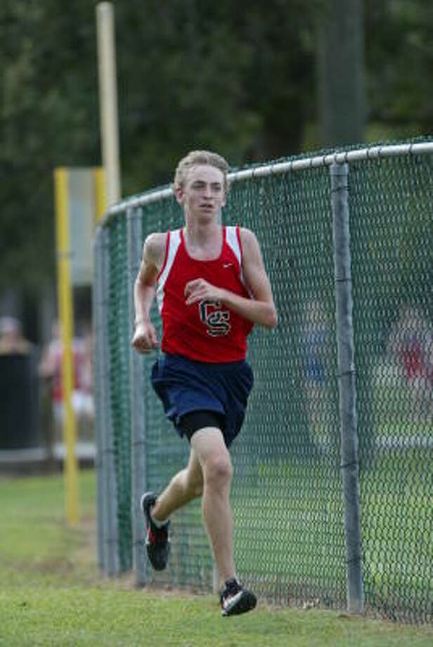 David Stranathan of Cypress Springs runs at the Klein  Forest Cross Country meet Sept. 22. Photo: Matthew White, For The Chronicle