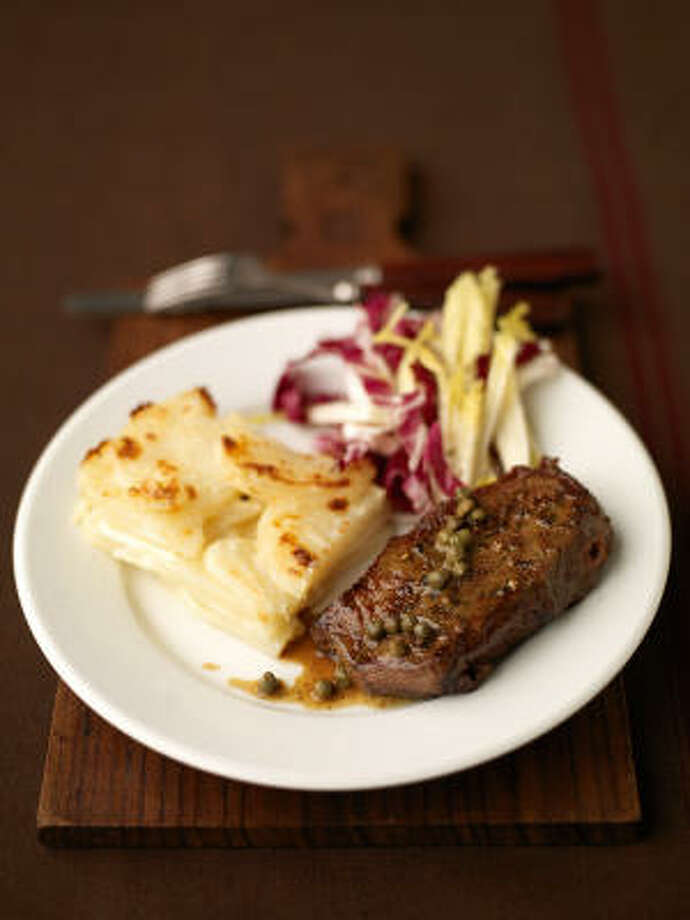 A meal of steak and potatoes fortifies the body and spirit. Photo: David Loftus, Everyday Food