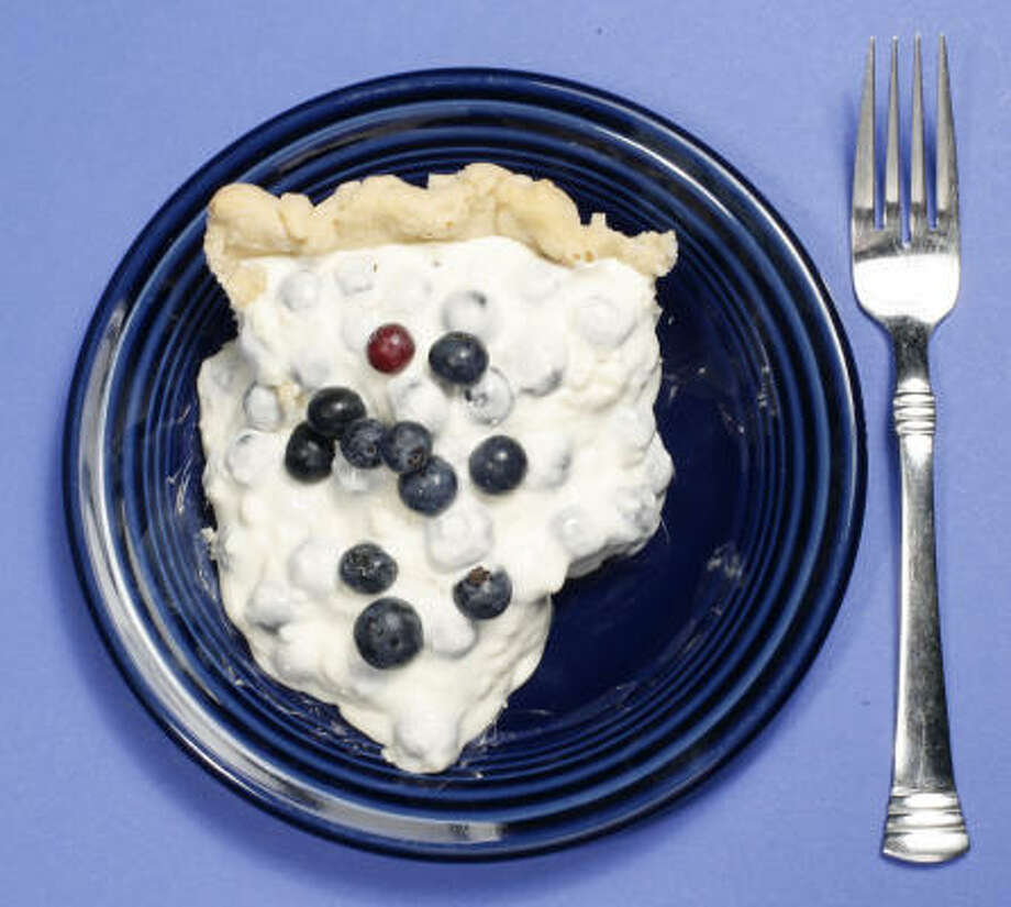 To conserve electricity, you probably shouldn't crawl into the refrigerator to eat this pie. Photo: Buster Dean, Chronicle
